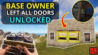 Wealthy Base Owner Left ALL The Doors UNLOCKED To HIS LOOT!   RUST SOLO