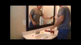 Framing bathroom mirrors