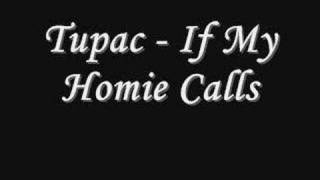 Tupac - If My Homie Calls *Lyrics