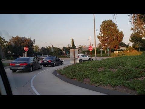 匆匆离开Evelyn Lin的母校,赶往丁胖子广场,途中所见的景色~20190807美国加州洛杉矶~