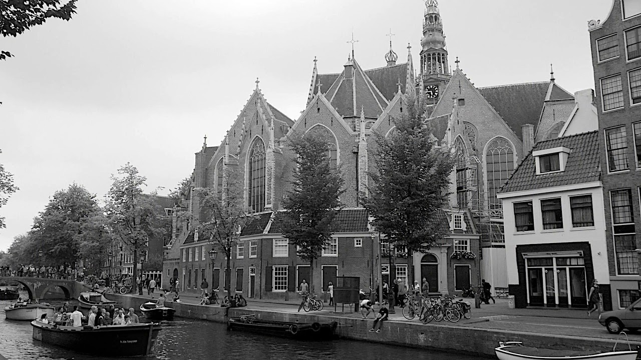 the oude kerk, the old church, amsterdam, netherlands, churches