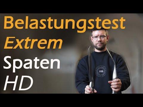 Extremtest: Spaten unter Belastung
