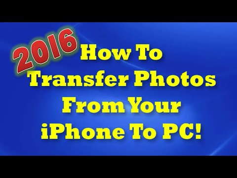 How To Transfer Photos From iPhone To Computer - 2016!