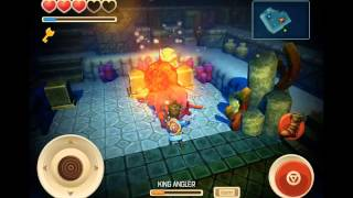 How to kill Dead King Angler and get the Emblem of Ocean - Oceanhorn for iOS