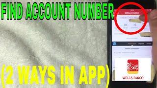 ✅  2 Ways To Find Wells Fargo Account Number in App 🔴