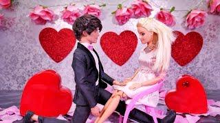 Walentynki Barbie 💕 Zaręczyny Barbie i Kena 💕 Rodzinka Trojaczki 💕 Bajka po polsku lalki odc.32