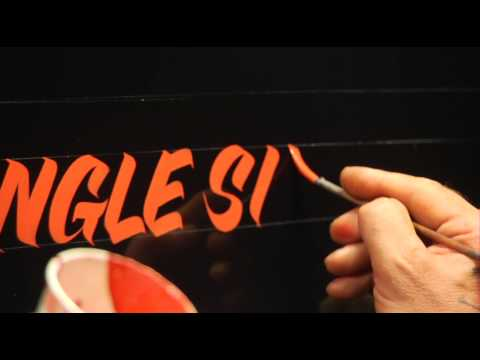 Single Stroke Lettering Demo by Glen Weisgerber
