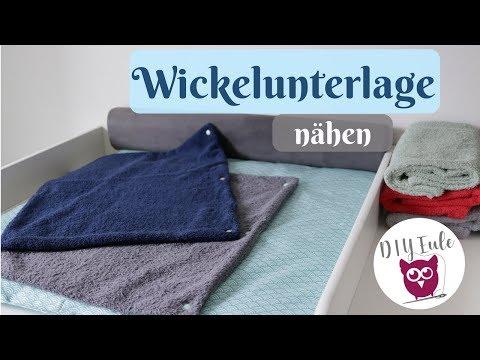 Wickelunterlage / Wickelauflage für den Wickeltisch nähen mit DIY Eule - Nähanleitung für Anfänger