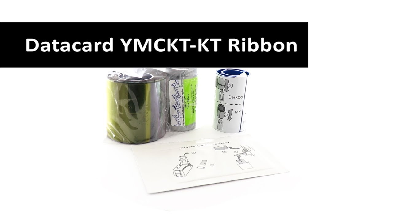 Datacard YMCKT-KT Full-Color Ribbon Kit - 300 prints - 534000-006
