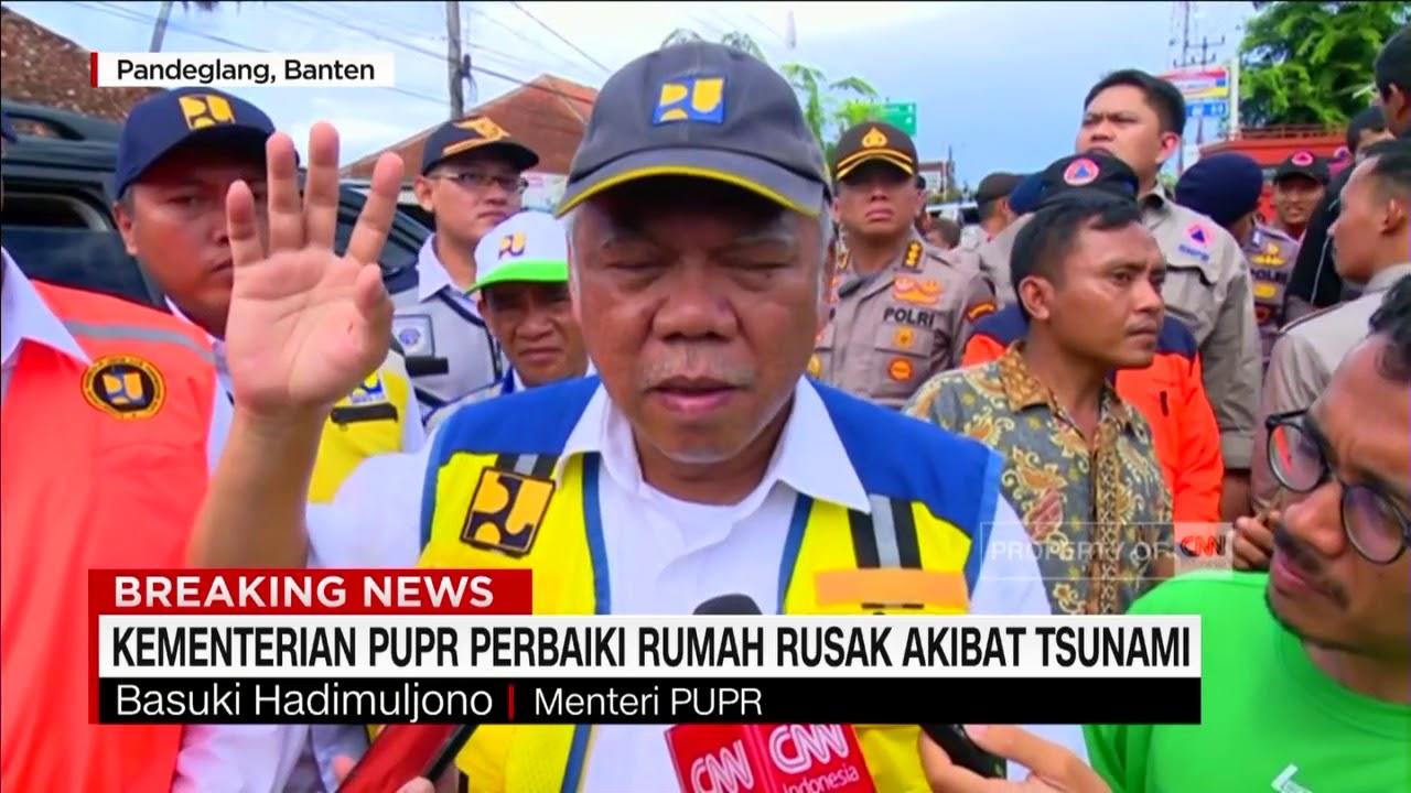 Fokus PUPR Atasi Dampak Tsunami