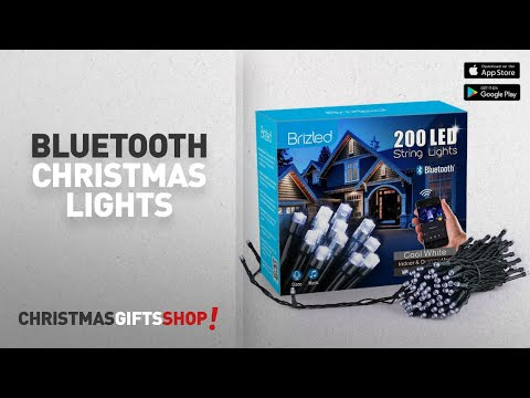 Bluetooth Christmas Lights Ideas: Brizled Dimmable LED Christmas Lights, 200 LED 65ft Mini String
