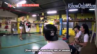 song ga-yeon rookie female mma gets tips from retired superflyweight champ Masamori Tokuyama
