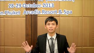 SEA 2013 Tsung Yu Lee Testimonial 1 - GSTF