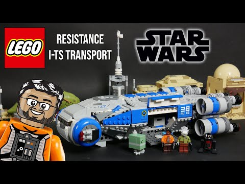 Vidéo LEGO Star Wars 75293 : Transport I-TS de la Résistance