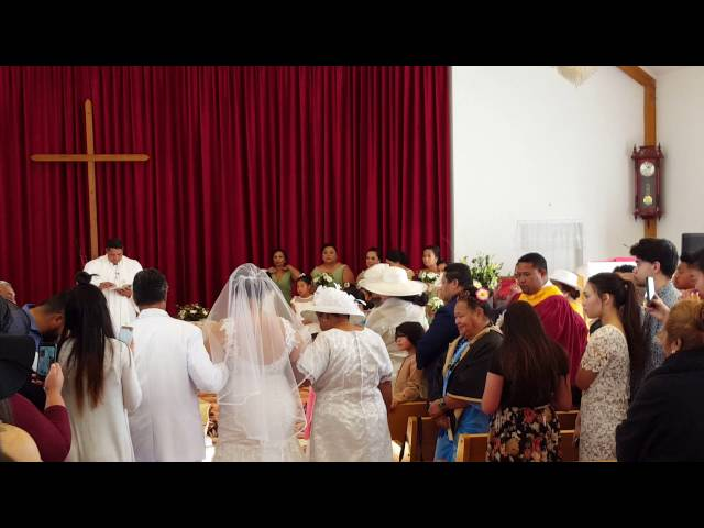 Nathan and Oina Wedding 4 June 2016 - Oina's Entrance with Parents
