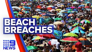 Coronavirus: Crowds breach social distancing rules on UK beaches | 9 News Australia