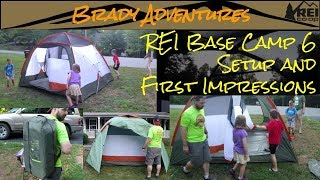 The Amazing REI Base Camp 6 Tent Setup and First Impressions