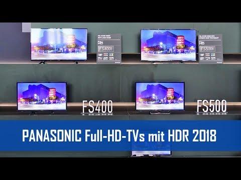 Panasonic FULL-HD Fernseher FSW404 und FSW504 mit HDR! (2018)