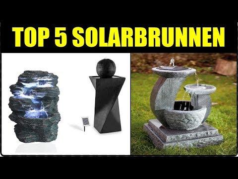 TOP 5 Garten Solarbrunnen für draußen ★ Solarbrunnen Test ★ Solarbrunnen Kaskade ★ Brunnen kaufen