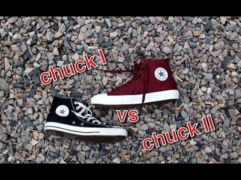 CHUCK TAYLOR I VS CHUCK TAYLOR II