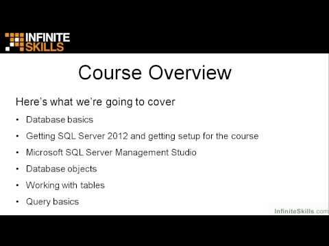 Microsoft SQL Server Exam 70-461 Tutorial   Course Overview ...