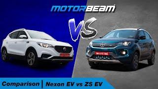 Tata Nexon EV vs MG ZS EV - Comparison   MotorBeam हिंदी