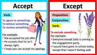 ACCEPT vs EXCEPT 🤔| What's the difference? | Learn with examples