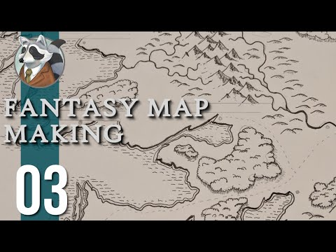 Forests, Hills, & Deserts| Fantasy Map Making | Ep.3