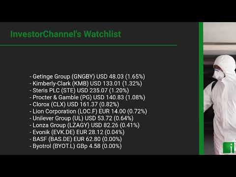 InvestorChannel's Disinfection Watchlist Update for Friday, October, 22, 2021, 16:00 EST