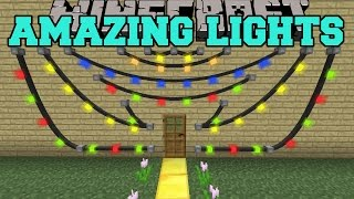 Minecraft: AMAZING LIGHTS MOD (GET DECORATING!) Mod Showcase