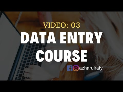Data Entry Training - Live Work Demo for BEGINNERS - YouTube