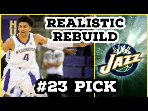 Utah Jazz Draft Prediction Realistic Rebuild!! Drafting Matisse Thybulle and Signing MAX PG??