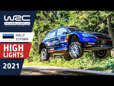 WRC3 2021 第7戦ラリー・エストニア 金曜日のハイライト動画