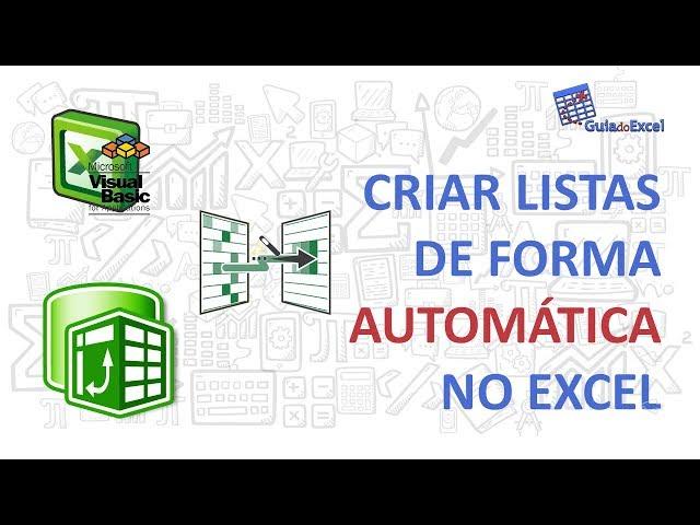 Listas no Excel com VBA e Power Query - Criação de lista de