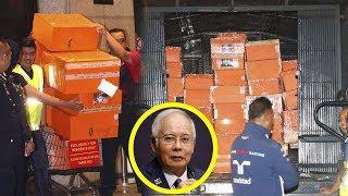 Uang Rp 427,8 M dan 284 Kotak Berisi Tas Mewah Serta Perhiasan Disita Polisi dari Rumah Najib Razak