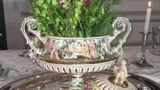 Piezas de porcelana Capodimonte