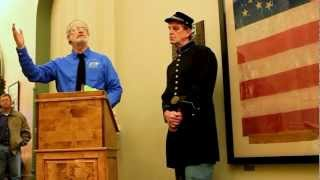 122nd Illinois Infantry Civil War Flag Dedication in Macoupin County - Dec. 31, 2012