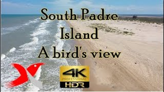 South Padre Island, a Sky Bird's View - Relaxation Video | DrOne 4k