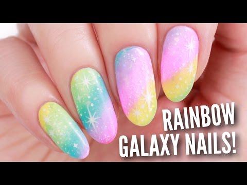 DIY Rainbow Galaxy Nail Art!