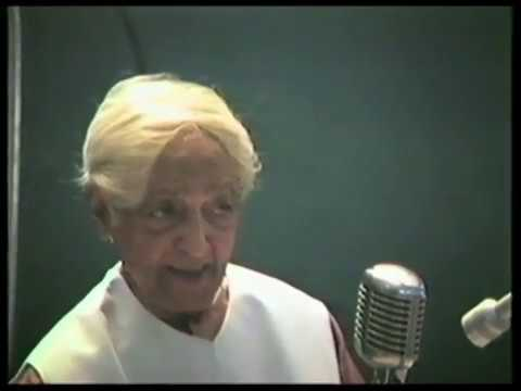 Why can't we sustain attention? | J. Krishnamurti