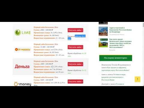 Займ онлайн на карту до 100000 рублей без отказа