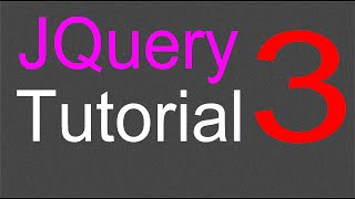 JQuery Tutorial for Beginners - 3 - First JQuery code