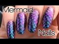 Magical Rainbow Mermaid Nail Art Tutorial