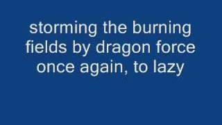 storming the burning fields by dragon force