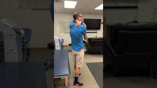 Upper back pinched nerve stretch for anyone who has pain in the shoulder blade w/ Dr Leo Kormanik II