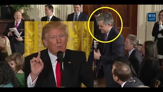 """Even Jim Acosta CNN had to laugh @ """"very"""" fake news. President Trump schools CNN with humor & facts"""