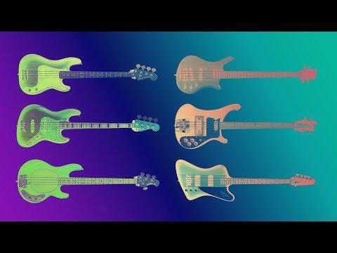 Famous Bass guitars sound comparison. Guitarbank session