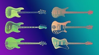 Famous Bass Guitars Sound Comparison. Guitarbank Session
