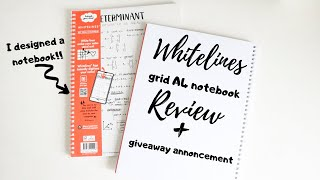 Whitelines Grid A4 Notebook | honest review + Giveaway | GIFTED | studyandorganize