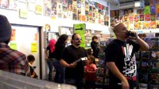 KISS Ace Frehley Signing at Amoeba Records part 2 pain in the neck is playing in the store